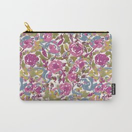 Painted Abstract Florals Carry-All Pouch