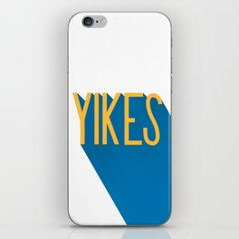 """Yikes"" Typography iPhone Skin"