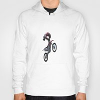motorbike Hoodies featuring Motorbike-stunt-rider by store2u