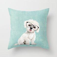 Mr Maltese Throw Pillow