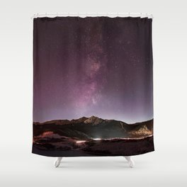 Milky Way Landscape Shower Curtain