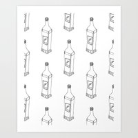 tequila Art Prints featuring Tequila Pattern by Mrs. Ciccoricco