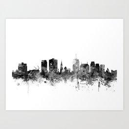 Christchurch New Zealand Skyline Art Print