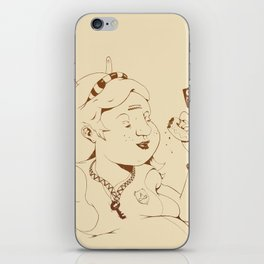 Alice stuck in the wonderland ! iPhone Skin