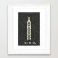 london Framed Art Prints featuring London by NJ-Illustrations