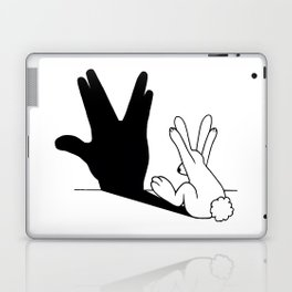 Rabbit Trek Hand Shadow Laptop & iPad Skin