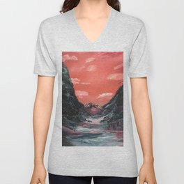 Reflections of a valley Unisex V-Neck