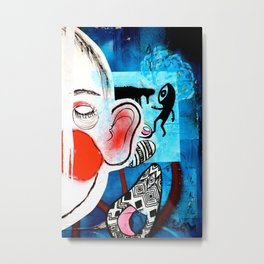 Red Face Metal Print