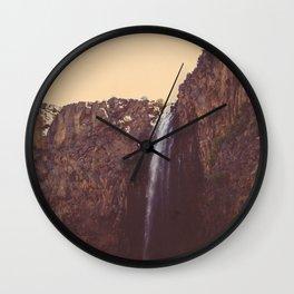 High Desert Waterfall Wall Clock