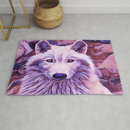 The Arctic Wolf Rug