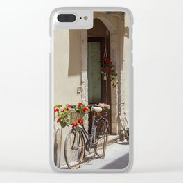 Bicycle in Syracuse Clear iPhone Case