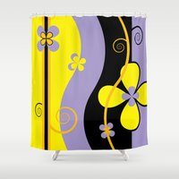 blossom Shower Curtains featuring Blossom by Graphic Tabby