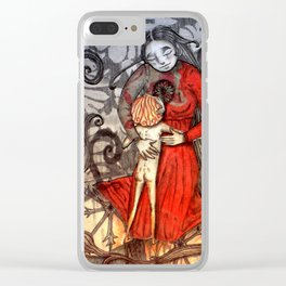 Cold feet boy warms a cold cold heart Clear iPhone Case