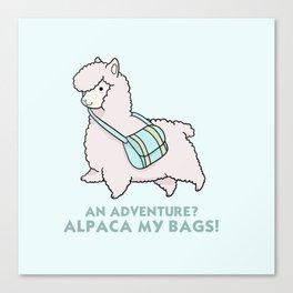 Alpaca my bags Canvas Print