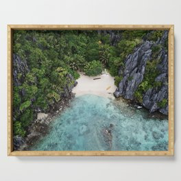 Isolated Beach Serving Tray