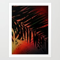 Midnight Palms Art Print
