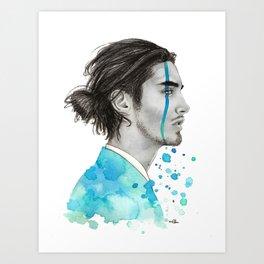 Man Bun Tears Art Print