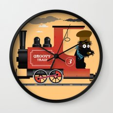Groovy train Wall Clock