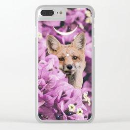 Lunar Fox Clear iPhone Case