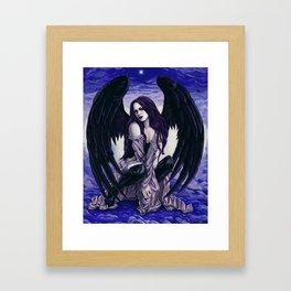 Star Light, Star Bright Sexy Gothic Angel Framed Art Print