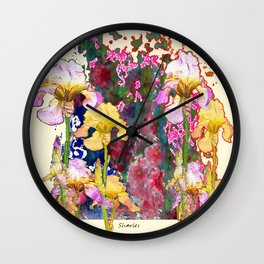 Decorative Yellow & Pink Spring Wall Clock