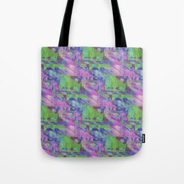 Computer Glitch Tote Bag