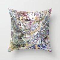 technology Throw Pillows featuring Technology Glump by Karl Frey