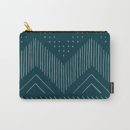 Teal Tribal Carry-All Pouch