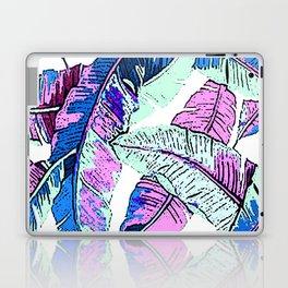 BANANA LEAF PALM PASTEL PINK AND BLUE Laptop & iPad Skin