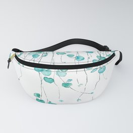 string of hearts watercolor Fanny Pack