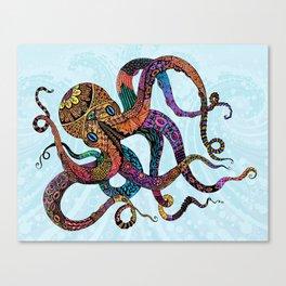 Electric Octopus Canvas Print