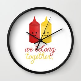 We Belong Together Wall Clock