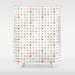Inline small circle Shower Curtain