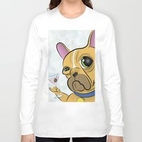 frenchie Long Sleeve T-shirts featuring Frenchie by Kandus Johnson