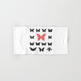 black red butterflies, cicada silhouette Hand & Bath Towel