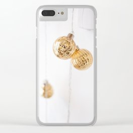 Golden Ornaments Clear iPhone Case
