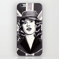 peggy carter iPhone & iPod Skins featuring Agent Carter by Katy-L-Wood