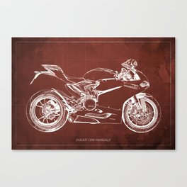 02- D Superbike 1299 Panigale 2015 red Canvas Print