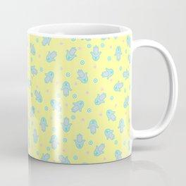 Yellow Hamsa Toss Coffee Mug