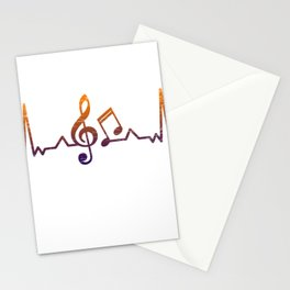 Heartbet Treble Clef Stationery Cards