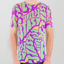'Ecstacy' 70's Psych Poster Fade Pattern All Over Graphic Tee