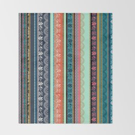 Bohemian Tribal Stripe Throw Blanket