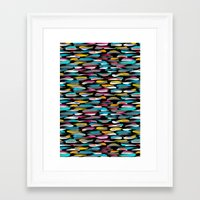 stripes Framed Art Prints featuring Stripes by Meryl Pardoen