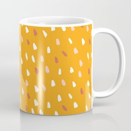 Abstract, Spotted Pattern, Yellow and Terracotta, Boho Art Coffee Mug