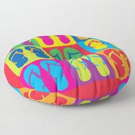 Pop Art Flip Flops Floor Pillow