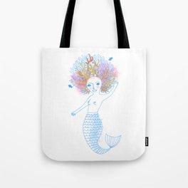 Coral the Mermaid Tote Bag