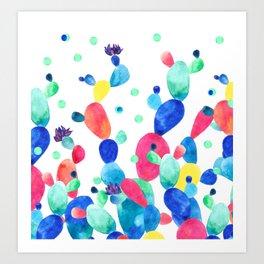 Cacti Confetti Art Print