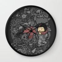 dreams Wall Clocks featuring Dreams by Alex Solis
