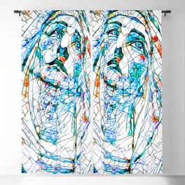Glass stain mosaic 8 - Madonna, by Brian Vegas Blackout Curtain