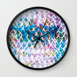 Behind the curtain Wall Clock